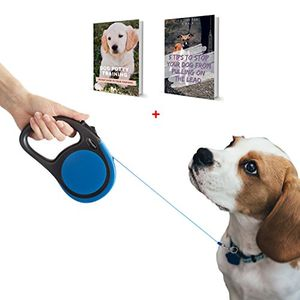 5M Grey & Blue Retractable Leads - Best for Small and Medium Dog Breeds and Cats
