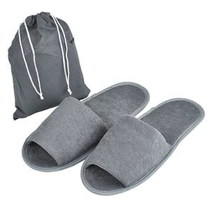 10pc of Foldable Slippers Pack (Grey)
