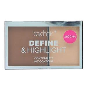 Technic Define & Highlight Duo Contour Kit Bronzer & Highlight Powder 5.5g-Mocha