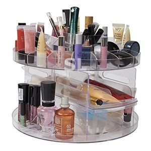 Rotating Spinning Beauty Clear Acrylic Cosmetic Caddy Organiser