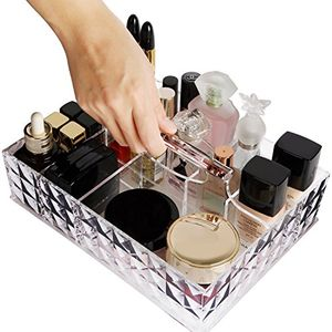 Organiser Premium Quality Acrylic Storage Holder Large Capacity with Handle