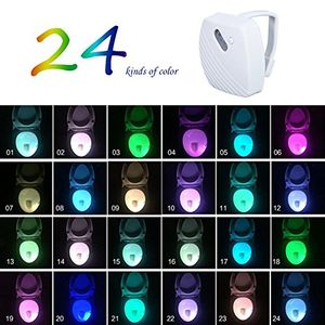 LED Toilet Light, 24 Colors Changing Brightness Motion Activated Sensor