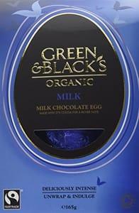 Green & Black's Organic Milk Chocolate Egg 165 G (Pack of 4) Add on Item