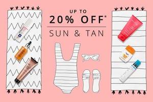 20% off 3 Sun&tan Products or 15% off 2 Sun&tan Products at FeelUnique