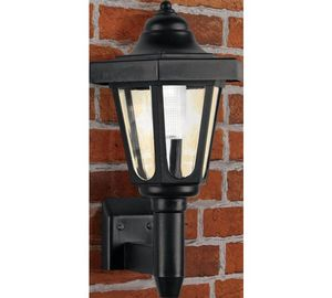 Home led solar outdoor wall light black 799 at argos home led solar outdoor wall light black aloadofball Choice Image