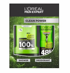 L'Oreal Men Expert Clean Power 2-Piece Gift Set - Add on