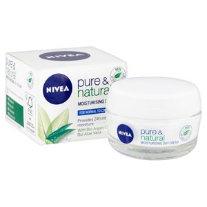 Wilko - Nivea Pure & Natural Moisturizing Day Cream - 50 Ml - Half Price