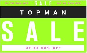 TOPMAN SALE HAS STARTED! up to 50% Off