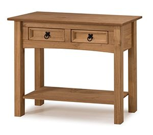 Furniture Corona 2-Drawer Console Table - Pine