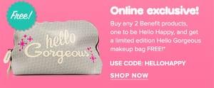 FREE Benefit Hello Gorgeous Makeup Bag