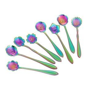 Rainbow Flower Spoon 8 Set