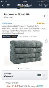 4 Large Towels