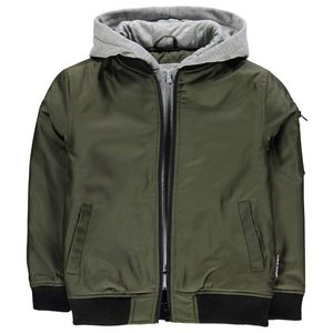 Lee Cooper Hooded Bomber Jacket Junior