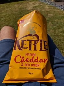 Kettle Mature Cheddar & Red Onion 100g Bag 59p