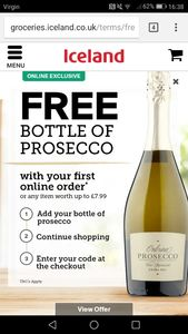 Free Bottle of Prosecco (With Purchase)