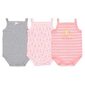 BARGAIN!!! Sleeveless Cotton Bodysuits Pack of 3