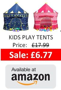 Kids Play Tent Bargains at Amazon - £6.77!