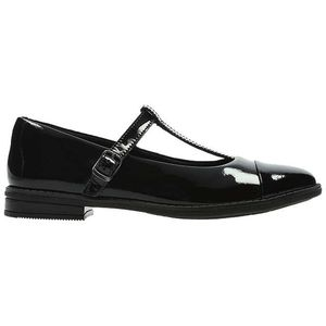 Clarks Children's Drew Shine T-Bar School Shoes, Black Patent Only £40.00