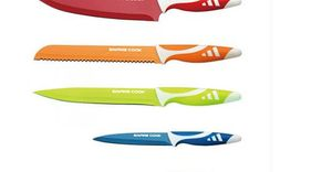 6pc Colourful Kitchen Knife Set from £7.99