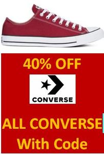 40% off ALL CONVERSE with CODE (Including 40% more off SALE PRICES!)