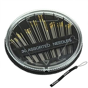 Estone 30PCS Assorted Hand Sewing Needles Embroidery Mending Craft