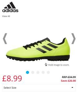 Adidas Mens Conquiato II TF Astro Football Trainers Reduced from £34.99 to £8.99