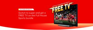 "Free 32"" Toshiba Smart Tv (with Virgin Media Plan)"