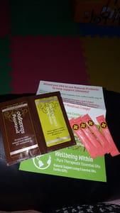 Free Shampoo, Toothpaste, Essential Oils