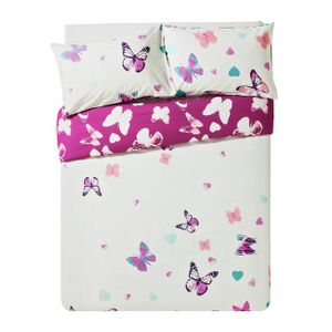 Argos Home Amelie Pink Butterfly Bedding Set - Double