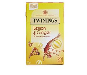Twinings Lemon and Ginger Tea Bags (20pk) Pack of 4