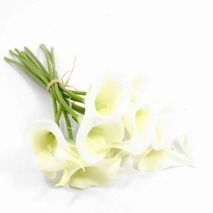 10 Stems of Ivory Real Touch Artificial Calla Lilies