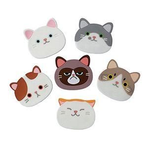 6 Pack Silicone Cat Coasters FREE DELIVERY