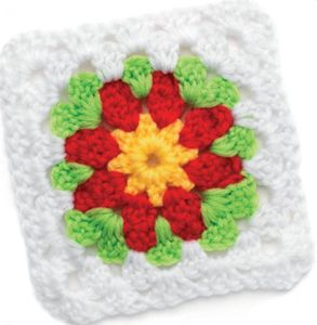 Red Petals Granny Squares (DOWNLOAD PATTERN)