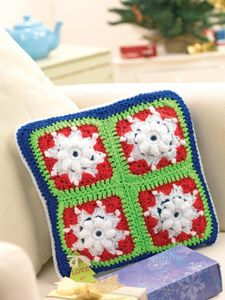 Snowflake Granny Square Scatter Cushion (DOWNLOAD PATTERN)