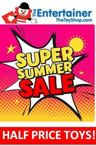 HALF PRICE TOYS ! Entertainer Summer Toy Sale - 50% OFF TOY BARGAINS