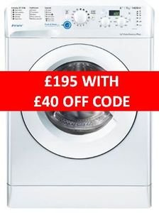 SAVE £40 Cheap Price Indesit Washing Machine 7kg 1400 Spin