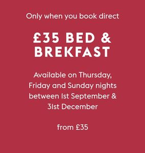 £35 Bed & Breakfast on Selected Days