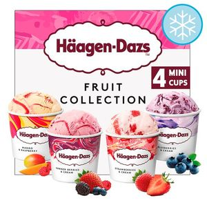 Haagen Dazs Fruit Ice Cream Collection Minicups 4X100ml CHOICE of 6