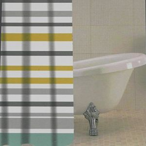 Ocean Stripe PEVA Shower Curtain