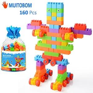 70% off MUITOBOM Building Blocks 160 Pieces Construction Blocks.