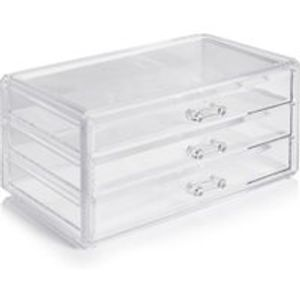 Wilko Cosmetic Perspex Desktop Storage Drawers Free C&C