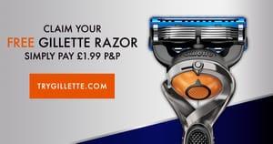 Free Gillette Proglide Flexiball Razor (Worth £12) plus £1.99 Postage