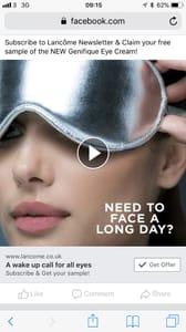 Free Sample Lancome Eye Cream