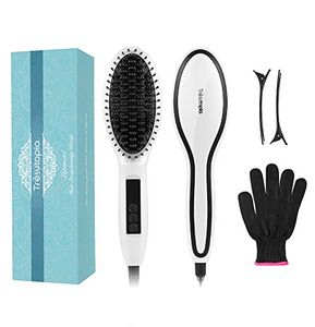 Ceramic Hair Straightening Brush Only £6.99, Prime Delivery