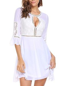 Women's Flare Sleeve Dress with Prime Delivery