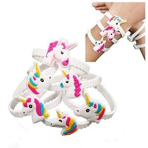 24pcs Rubber Unicorn Bracelets
