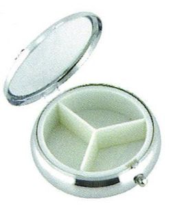 PANYTOW Silver round Pill Box