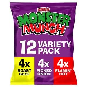 Mega Monster Munch Variety Snacks 12 X 22 G