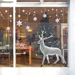Lovely White Christmas Deer Wall Sticker