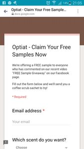 Optiat Free Sample